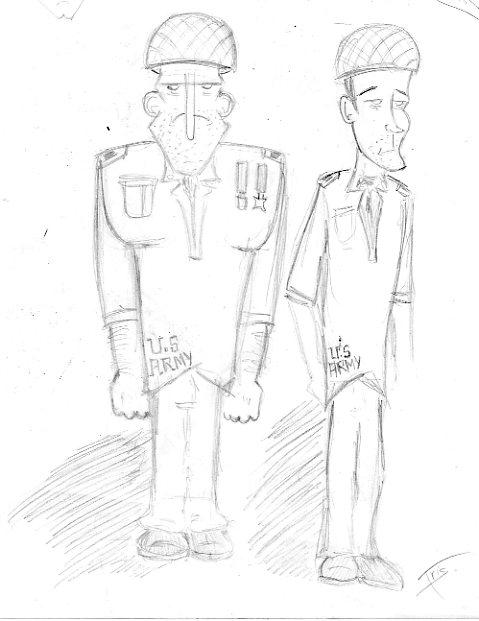 militaires brouillon